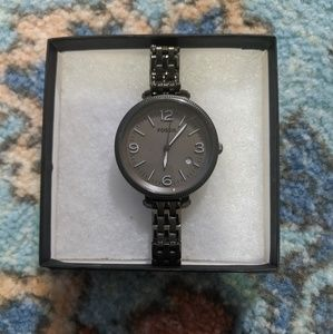 Fossil charcoal - gray metal watch